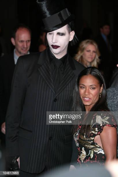 "Marilyn Manson & Jada Pinkett Smith during ""Final Flight Of The Osiris"" World Premiere at Warner Bros. In Burbank, CA, United States."