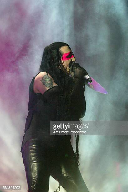 Marilyn Manson performing on stage at Wembley Arena in London on the 5th December 2007