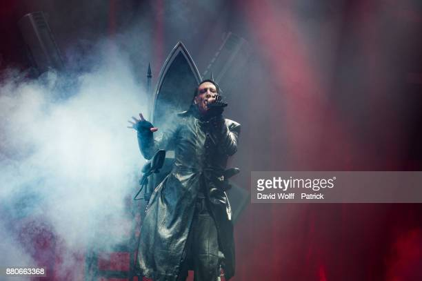 Marilyn Manson performs at AccorHotels Arena on November 27 2017 in Paris France