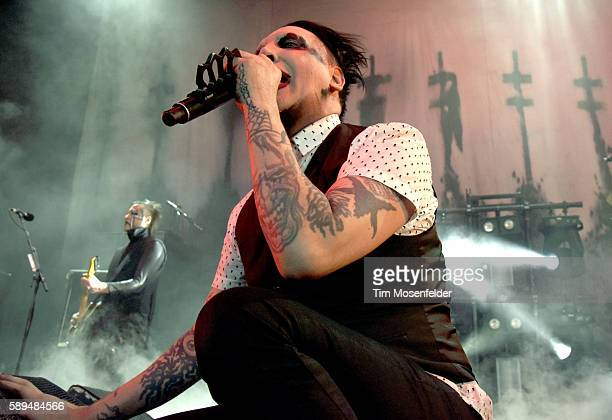 Marilyn Manson performs at Concord Pavilion on August 13, 2016 in Concord, California.