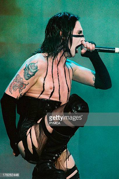 Marilyn Manson performs at Gig on the Green UK 2003