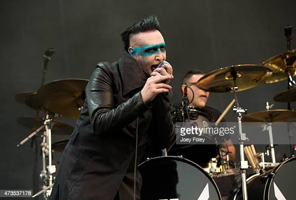 Marilyn Manson performs at MAPFRE Stadium on May 15 2015 in Columbus Ohio