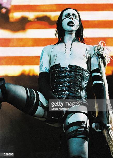 Marilyn Manson performs at Ozzfest June 30 2001 in San Bernardino CA