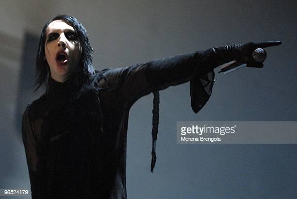 Marilyn Manson performs at Palasharp on May 28 2007 in Milan Italy