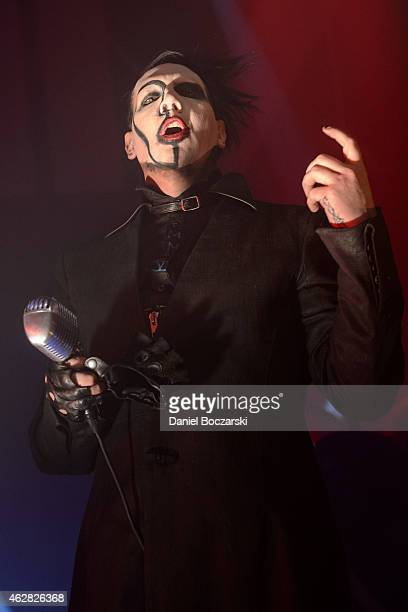 Marilyn Manson performs at Riviera Theatre on February 5 2015 in Chicago Illinois