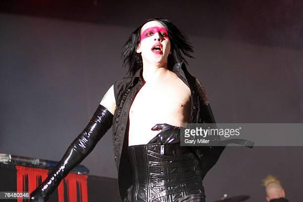 Marilyn Manson performs at the Verizon Wireless Amphitheater on September 2 2007 in San Antonio Texas