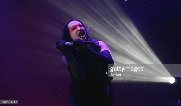 Marilyn Manson performs at the Wembley Arena on December 5 2007 in London England