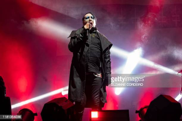 Marilyn Manson performs during the Astroworld Festival at NRG Stadium on November 9 2019 in Houston Texas