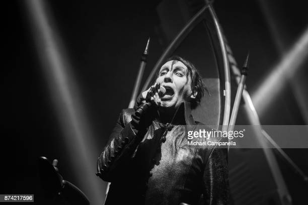 Marilyn Manson performs in concert at Annexet as a part of his 'The Heaven Upside Down Tour' on November 14 2017 in Stockholm Sweden