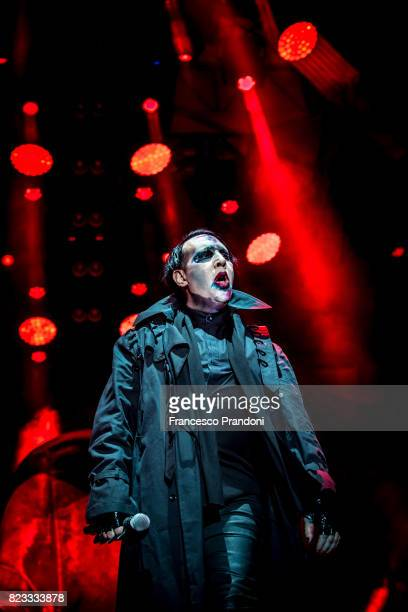 Marilyn Manson Performs on July 26 2017 in Villafranca di Verona Italy