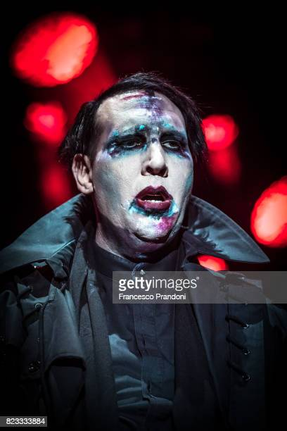 Marilyn Manson Performs on July 26 2017 in Villafranca di Verona Italy
