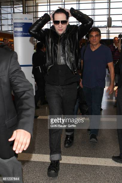 Marilyn Manson seen at LAX on June 25 2014 in Los Angeles California