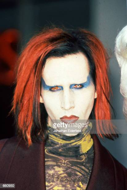 Marilyn Manson stands at Union Square August 28 1998 in Manhattan NY