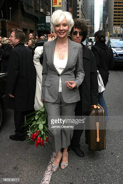 Marilyn Manson's mother during Marilyn Manson Megan Mullally The Libertines Johnny Knoxville Visit the Late Show with David Letterman May 8 2003 at...