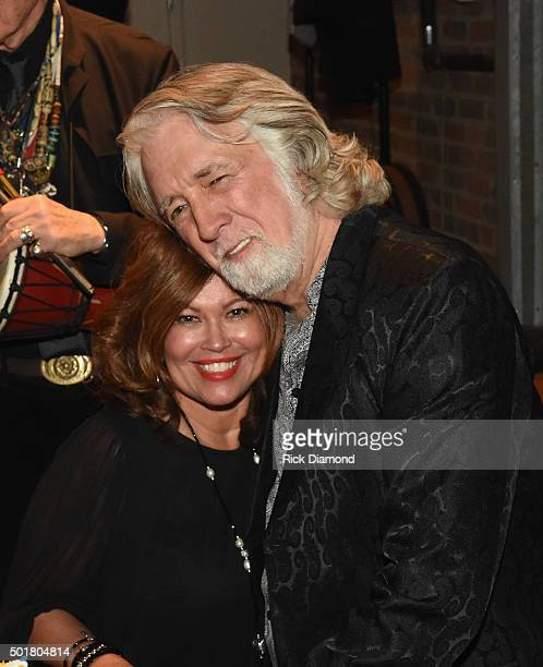 Marilyn McEuen and John McEuen backstage at John McEuen's 70th Birthday Christmas Jam at Music City Roots Live from the Factory on December 16 2015...