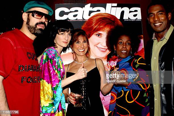 Marilyn Milian and guests during Catalina Magazine Party at Auju in New York City New York United States