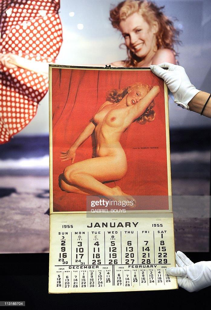 A Marilyn Monroe 1955 Calendar Is On Display In Beverly Hills