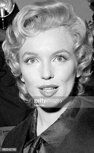 Marilyn Monroe 1956 Actress Marylin Monroe at publicity shoot for their movie The Prince and the Showgirl in 1956 News Press Conference