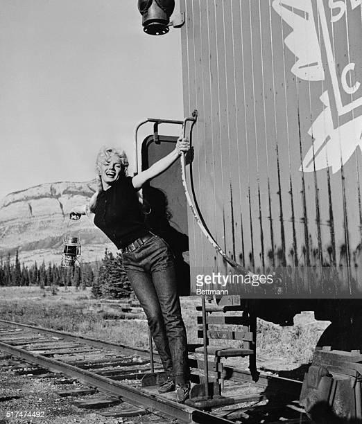 Marilyn Monroe aboard the Million Dollar Special train