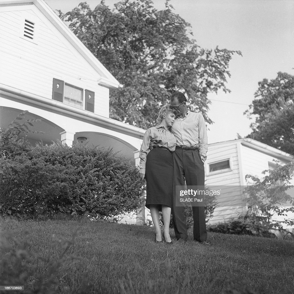 Athome De marilyn and arthur miller at home in roxbury pictures getty