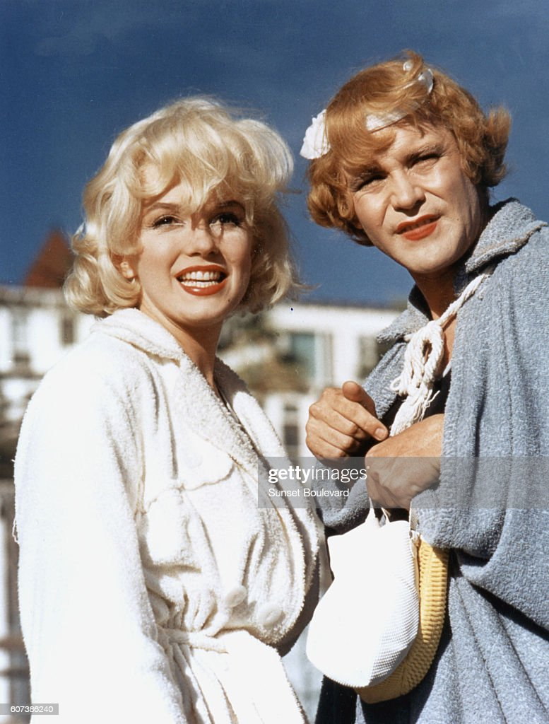 Marilyn Monroe and Jack Lemmon on the set of 'Some like It Hot', by Billy Wilder.
