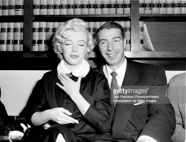AF Marilyn Monroe and Joe DiMaggio in the judges chambers before their marriage on January 14 1954 Photo by Art Frisch or Bill Young