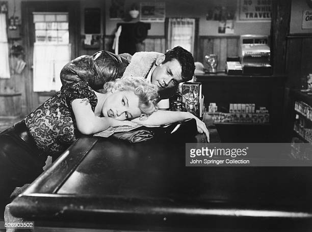 Marilyn Monroe as Cherie and Don Murray as Bo Decker in the 1956 film Bus Stop