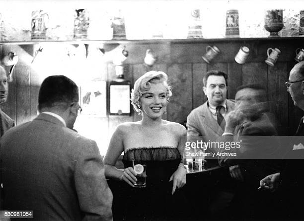 Marilyn Monroe at a press party for 'The Seven Year Itch' at the '21' Club in 1954 in New York New York