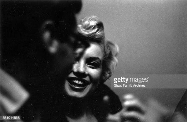 Marilyn Monroe at a press party for 'The Seven Year Itch' in 1954 in New York New York