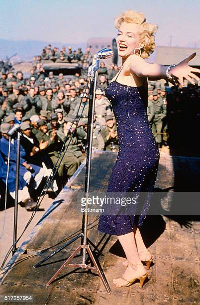 Marilyn Monroe Enertaining U.S. Troops