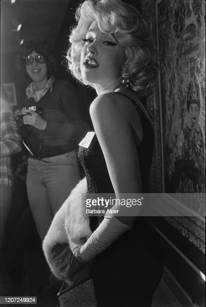 Marilyn Monroe impersonator in a look-alike contest at the Institute of Contemporary Art, Boston, Massachusetts, US, 19th January 1979.