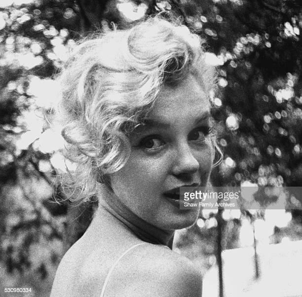 Marilyn Monroe in 1957 in Amagansett, New York.