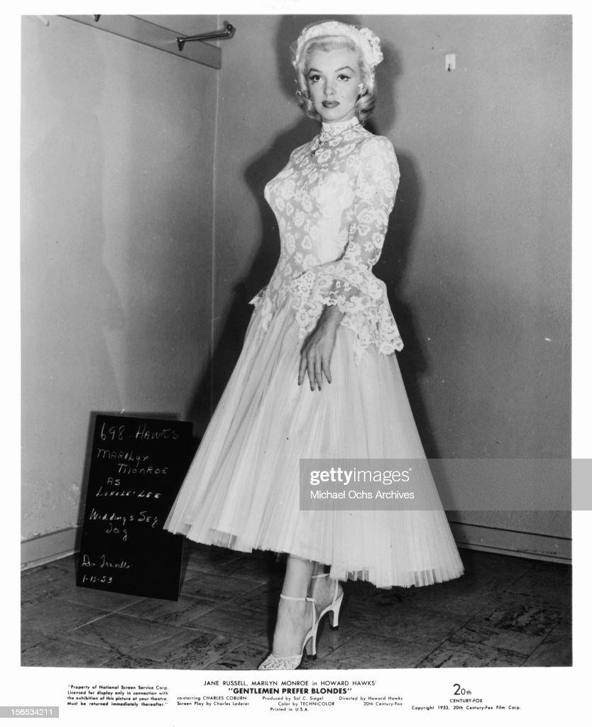 Marilyn Monroe In 'Gentlemen Prefer Blondes' : Fotografía de noticias