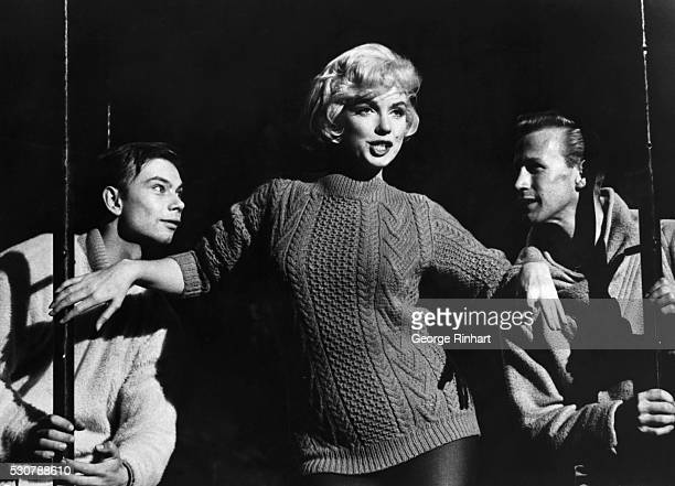 Marilyn Monroe in scene from Let's Make Love directed by George Cukor when she sings her 'Lolita' number Released in 1960
