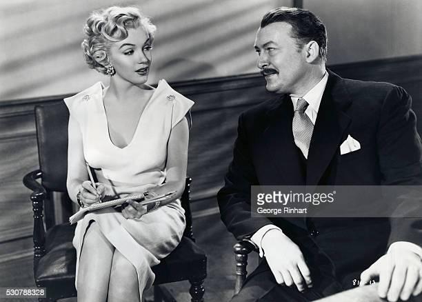 Marilyn Monroe in scene with Albert Dekker 'As young as you feel' early career