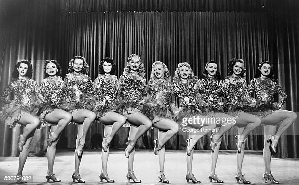 Marilyn Monroe 'just another blonde' in 1948 appearing in Columbia's 'Ladies of the Chorus' starring Adele Jergens tall girl center The blonde on her...