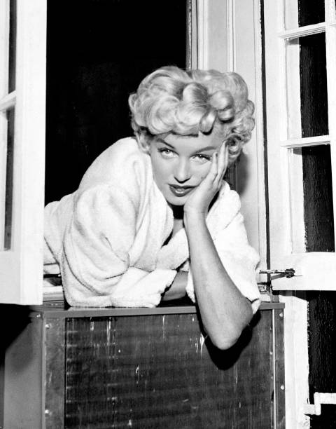 "Marilyn Monroe on set of ""The Seven Year Itch"" at East 61st"