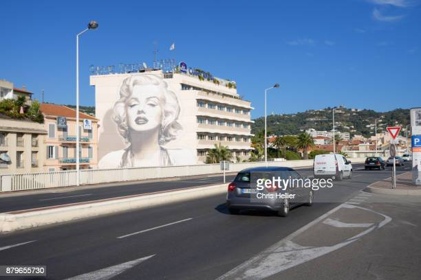 Marilyn Monroe Portrait Wall Painting Cannes France