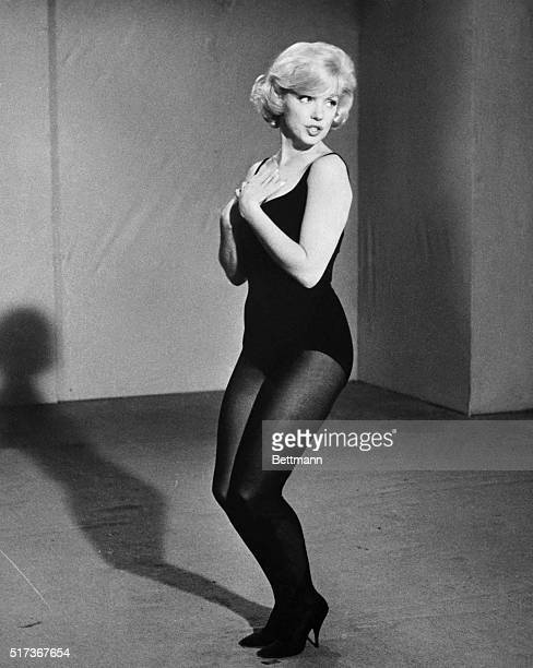 Marilyn Monroe rehearses a dance routine for the film Let's Make Love