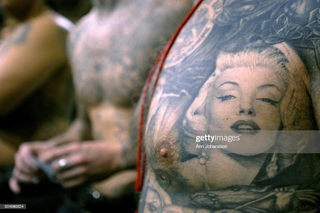 Marilyn Monroe With Tattoos Art