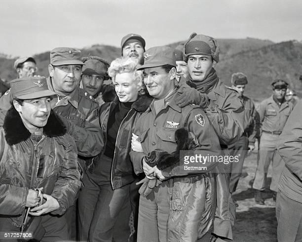 Marilyn Monroe Visiting Servicemen in Korea