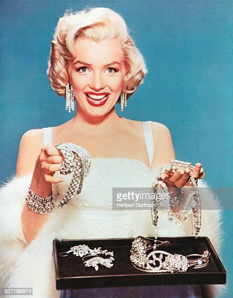 Marilyn Monroe with Diamond Jewelry