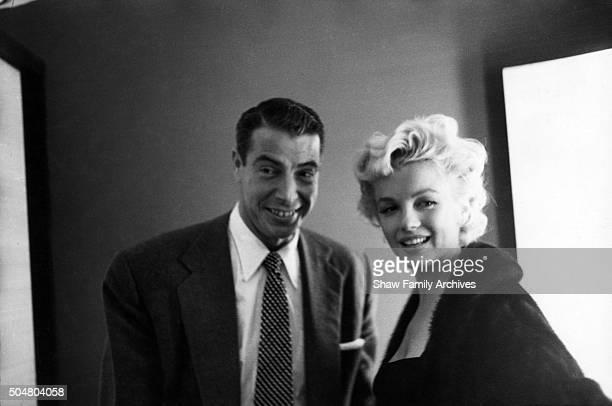 Marilyn Monroe with her husband baseball player Joe Dimaggio in 1955 in New York New York