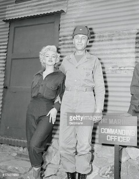 Marilyn Monroe with Marine Col William K Jones