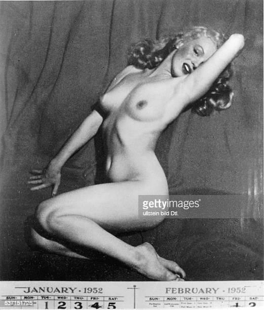 Marilyn MonroeMarilyn Monroe Schauspielerin USA PinUp Foto aus einem Kalender 1952