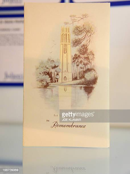 MANDATORY MENTION OF THE ARTIST UPON PUBLICATION Marilyn Monroe's Funeral Card is displayed at Julien's Auctions in Beverly Hills California on...