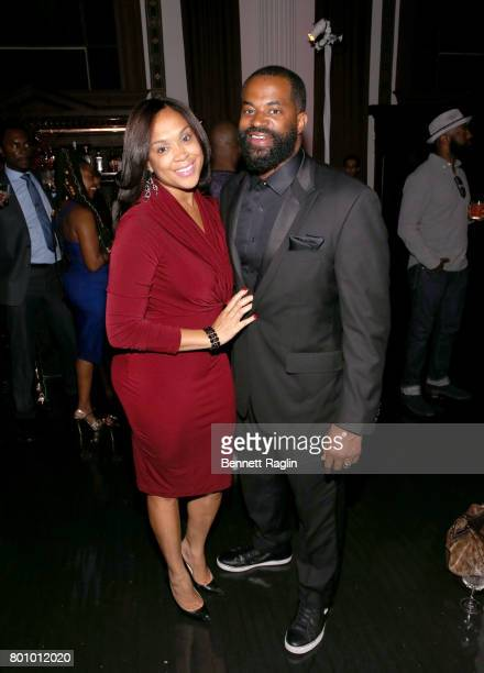 Marilyn Mosby and Nick J Mosby attend the 2017 BET Awards Official After Party at Vibiana on June 25 2017 in Los Angeles California