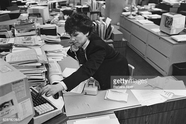 Marilyn Neckes a former TV producer who has changed career to stockbroker New York City USA May 1984