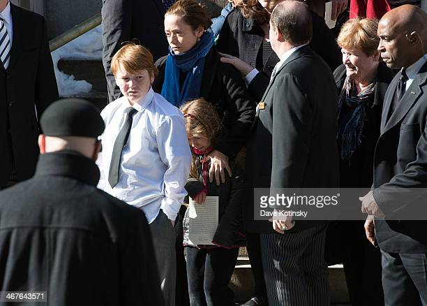 Marilyn O'Connor Mimi O'Donnell partner of actor Philip Seymour Hoffman along with their children Willa Hoffman Tallulah Hoffman and Cooper Hoffman...