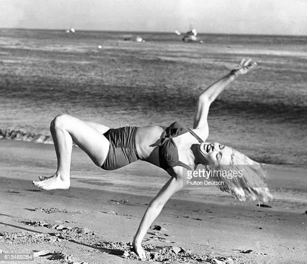 Marilyn Taking A Break From Filming